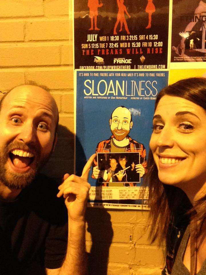 Sloanliness poster with Rhiannon