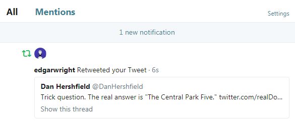 """749c00eaf That said, the """"President"""" being a thoroughly shitty human being led to my  most viewed tweet, due to me being retweeted by Edgar Wright!"""